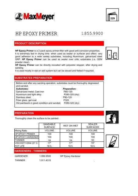 HP EPOXY PRIMER - Lakkspesialisten