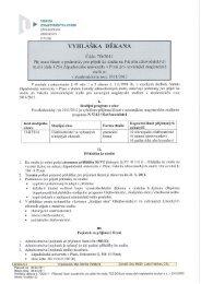 7D/2011 - Fakulta zdravotnických studií - Západočeská univerzita v ...