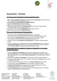 Checkliste für Ihre Klassenfahrt - Welcome Berlin Tours