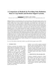 A Comparison of Methods for Providing Solar Radiation Data to ...