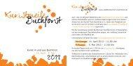 Kunstmeile 2013 Flyer - Stadtteilzentrum Buchforst