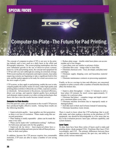 Computer-to-Plate – The Future for Pad Printing - Inkcups Now