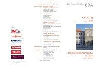 4. BDA-Tag Zeitmaschine Architektur - architekten24.de