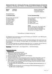 Protokoll der 21. Sitzung des Planungsausschusses vom 27.09.2011