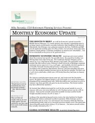MONTHLY ECONOMIC UPDATE - Retirement Planning Services ...