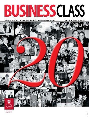 business alumni magazine spring/summer 2010 - University of Victoria