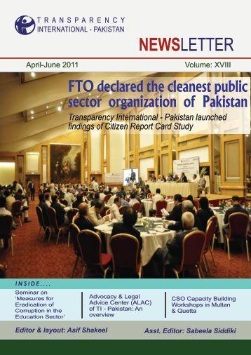 April - June 2011 - Transparency International Pakistan