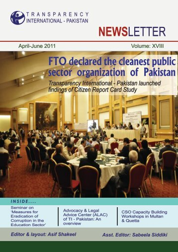 April - June 2011 - Transparency International Pakistan