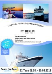 fti Berlin bremerhaven - Reisebüro Niedermayer Reisen