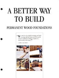 PWF Preserved Wood Foundations - Canadian Plywood Association