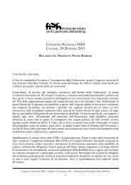 Relazione del Presidente Pietro Barbieri - Fish