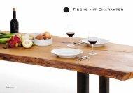 Tische mit Charakter