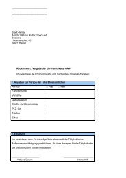 Formular für Vergabe Ehrenamtskarte - Hemer
