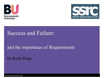 Success and Failure: - School of Design, Engineering, and Computing