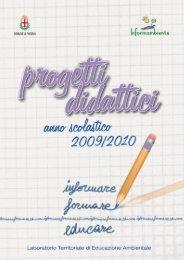 Progetti didattici - anno scolastico 2009/2010 - Comune di Padova