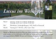 Luxus im Weinberg Luxus im Weinberg - topkulturevents