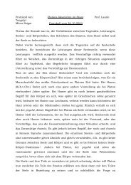 Platons Ideenlehre im Staat, Protokoll vom 26.10.