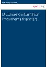 Brochure d'information instruments financiers - Indices