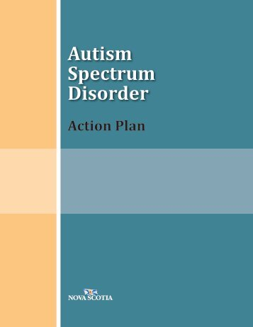 Autism Spectrum Disorder - Nova Scotia Department of Education