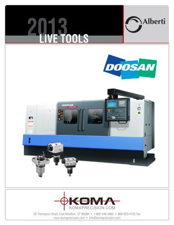 Live Tools for Doosan - Koma Precision, Inc.