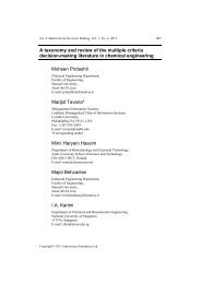 A taxonomy and review of the multiple criteria decision-making ...