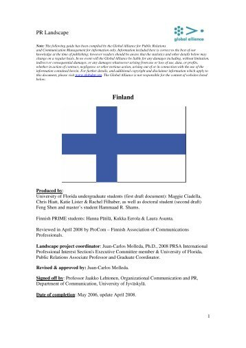 Finland - Global Alliance for Public Relations and Communication ...