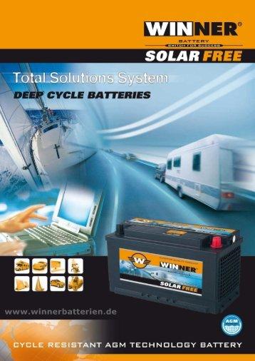 AGM Solarbatterien, Wohnmobil, Camping Batterien - Winnerbatterien