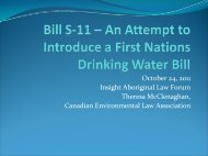 Bill S-11 - Canadian Environmental Law Association