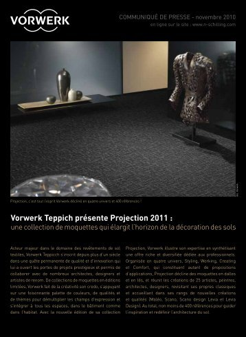 Vorwerk Teppich présente Projection 2011 :