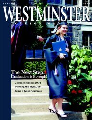 The Next Step: - Westminster College