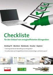 Checkliste Bürogeräte - OÖ Energiesparverband