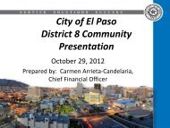 Community Meeting Presentation - City of El Paso