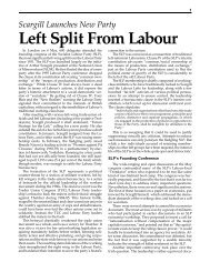 Left Split From Labour - International Bolshevik Tendency