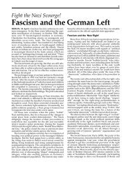 Fascism and the German Left - International Bolshevik Tendency