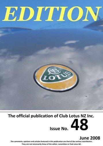 Issue No. 48 June 2008 - Club Lotus NZ