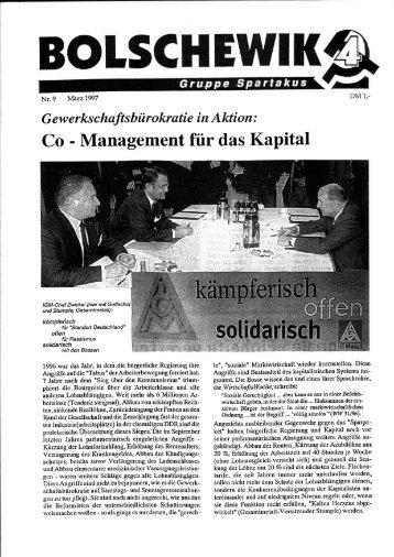 Co-Management für das Kapital. In - International Bolshevik Tendency