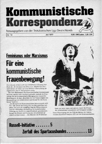 KK 19/77 - International Bolshevik Tendency