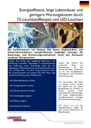 Energieeffizienz, lange Lebensdauer und geringere ... - Unipart Rail