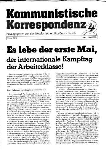 KK Extra-Blatt 1. Mai 1975 - International Bolshevik Tendency