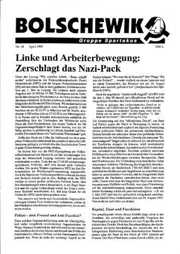 Zerschlagt das Nazi-Pack. In - International Bolshevik Tendency