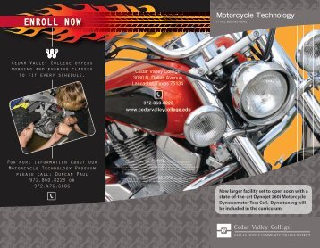 Motorcycle Technology - Cedar Valley College
