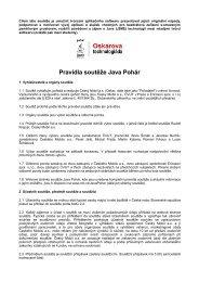 Pravidla soutěže Java Pohár - RDC