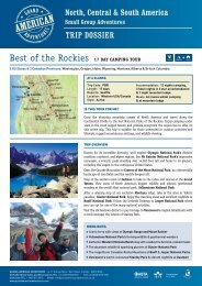 Best of the Rockies 17 DaY CaMPING TOuR - Adventure holidays