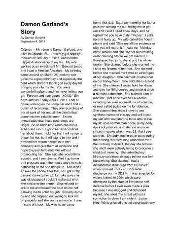 Damon Garland's Story - False DVI Reports
