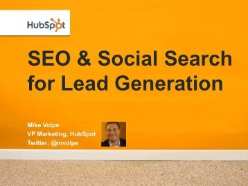 SEO & Social Search for Lead Generation