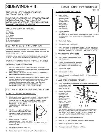carefree awning installation instructions