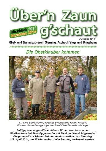 Ãœber'n Zaun g'schaut - Obst- und Gartenbauverein Sierning