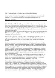 The Common Fisheries Policy – a view from the industry