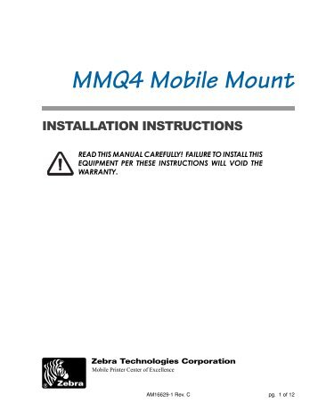 QL 420 Mobile Mount - Gamma Solutions