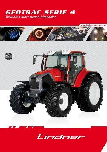 Geotrac Serie 4 - Lindner Traktoren